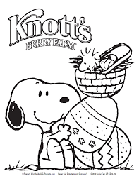 snoopy easter coloring pages getcoloringpages