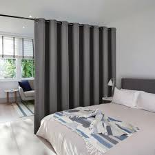 ready built bedroom furniture nicetown room divider curtain total privacy solid ready made for