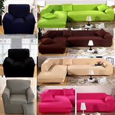 Sectional Sofa Cover L Shape Stretch Elastic Fabric Sofa Cover Pet Sectional
