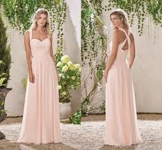 evening wedding bridesmaid dresses baby pink a line bridesmaid dresses 2017 lace chiffon