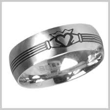 mens claddagh ring claddagh ring stainless steel men s claddagh rings stainless steel
