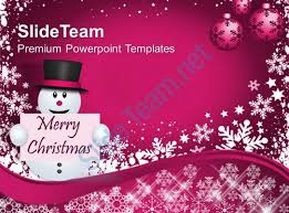 christmas greetings snowman with message holidays powerpoint