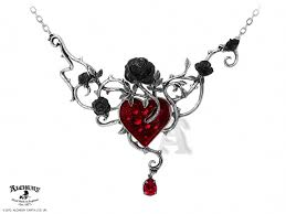gothic jewelry necklace images Alchemy gothic bed of blood roses pendant necklace p630 jpg