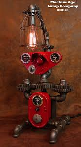 steampunk lamp by machine age lamps farmall tractor dash farm lamp