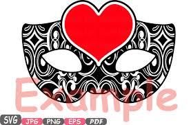 props valentine u0027s day mask silhouette cutting files svg masquerade