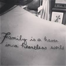 quote ideas about family on shoulder blade family is a