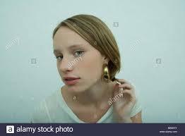 earring girl girl wearing earrings stock photos girl wearing earrings stock