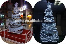 Outdoor Christmas Decorations Spiral Trees metal frame led white spiral christmas tree outdoor for holiday