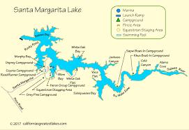 santa map santa margarita lake map