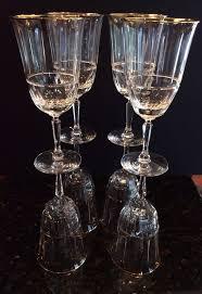 Vintage Lenox Crystal Star Bud Vase 8 Vintage Gold Encrusted Tiffin Palais Versailles Cut Crystal Wine