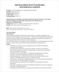 catering assistant jobs event planner job description sample resume job