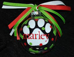 personalized pet ornament paw print free shipping by accentdeals