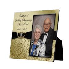 wedding anniversary plaques 50th wedding anniversary photo plaques zazzle