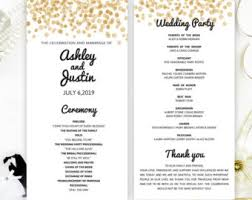inexpensive wedding programs confetti program etsy