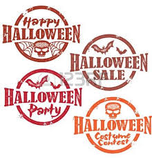 happy halloween stamp royalty free cliparts vectors and stock