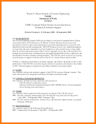 Sample Janitorial Resume by 12 Example Statement Of Work Janitor Resume