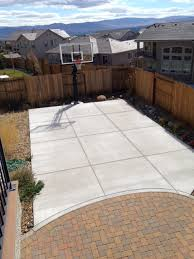 Concrete Slabs For Backyard by Pro Dunk Platinum Basketball System With Nicely Done Square