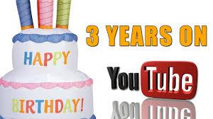 3 years on youtube youtube