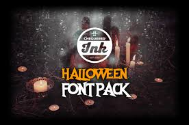 halloween font pack u2013 chequered ink