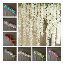 diy wedding arch aliexpress buy 50pcs artificial hydrangea wisteria flower