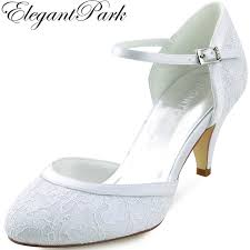 wedding shoes mid heel woman mid heel wedding shoes white ivory toe buckle lace