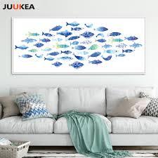 aliexpress com buy large size nordic blue kawaii shoal of fish