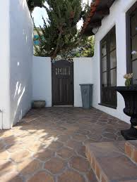 Patio Tile Flooring by This Spanish Style Kitchen Courtyard Forms An Arresting Study In