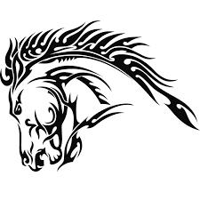 tribal stag tattoo again tribal horse head tattoo design photo 1 cars pinterest
