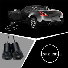 nissan black logo 2pcs nissan skyline car logo led laser welcome door projector