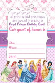 Design Invitation Card For Birthday Party Free Disney Princess Invitation And Thank You Card
