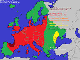 Weather Fronts Map 2016 02 09 U2013 Storm Gusts In Most Of Europe Esc U2013 European Storm
