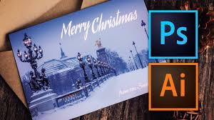 how to make a christmas card with photoshop or illustrator youtube