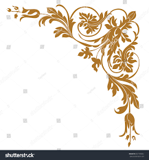 golden vintage baroque ornament corner retro stock vector