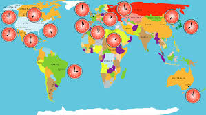 map showing time zones in usa map of world time zones stock footage 15960487