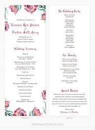 wedding program protea floral wedding program sle paperwhites wedding invitations