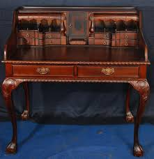 Victorian Secretary Desk by Chippendale Style Mahogany Writing Desk With Hidden Compartments