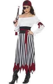 Womens Pirate Halloween Costumes Stripy Female Pirate Costume Female Pirate Costume Female