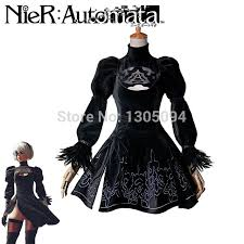 Woman Black Halloween Costume Aliexpress Buy Newest Nier Automata Game Cosplay Costumes