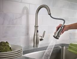 touch sensitive kitchen faucet moen motionsense free faucet review mr gadget