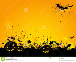 halloween background jack halloween grunge background with bats and jack o lanterns stock