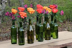 wine bottle centerpieces easy and wine bottle centerpiece uncommon designs