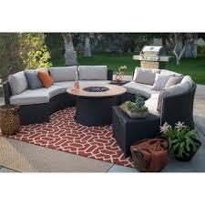 Patio Furniture Fire Pit Set by Belham Living Albena All Weather Wicker Fire Pit Conversation Set