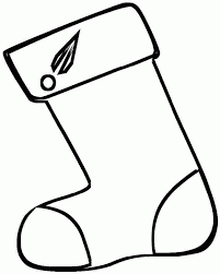 picture christmas stocking coloring