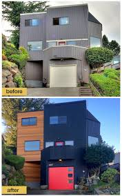 Garage Door Curb Appeal - modern curb appeal contemporary garage door makeover by clopay