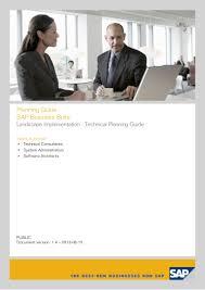planning guide sap business suite 7 2013 landscape implementation