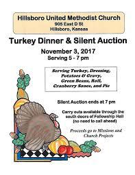 turkey dinner to go turkey dinner and silent auction hillsboro united methodist