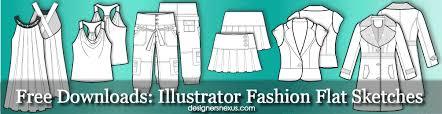 free illustrator fashion flat sketch templates flat drawing