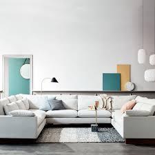 u shaped sofa harmony u shaped sectional west elm