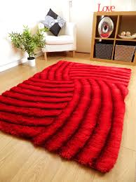 Thick Pile Rug New Light Dark Red Luxurious Thick Pile Rug Modern Soft Silky