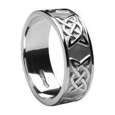 celtic mens wedding bands mens celtic wedding rings ms wed295